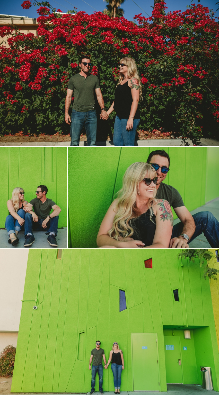 Colorful Palm Springs Engagement Photos