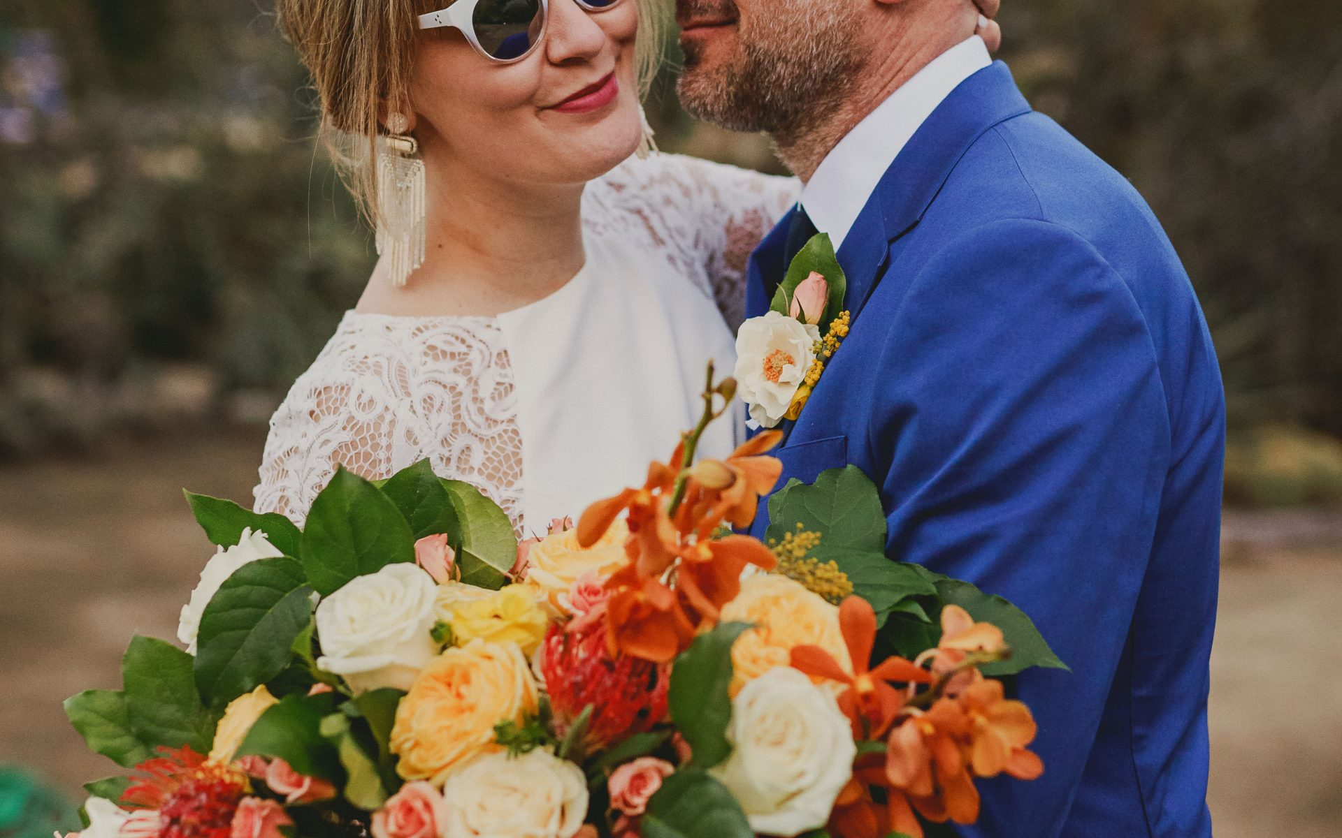 Romantic Palm Springs Wedding at Moorten Botanical Garden