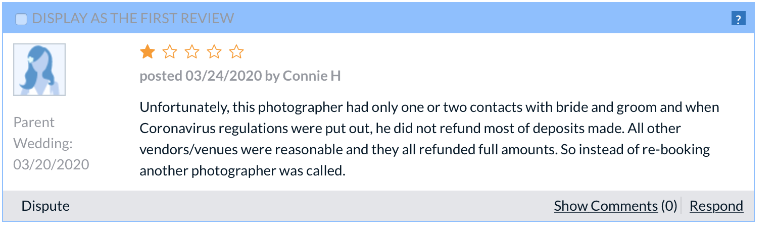 bad photographer review